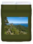 Scenic Urewera Np With Lake Waikaremoana In Nz Duvet Cover