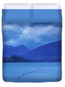 Scenic View Of A Lake At Dusk, Lake Duvet Cover