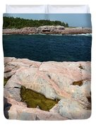 Scenic View Of Exposed Bedrock Duvet Cover