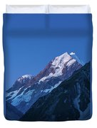 Scenic View Of Mountain At Dusk Duvet Cover