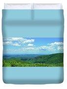 Scenic View Of Mountain Range, Blue Duvet Cover