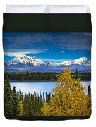 Scenic View Of Mt. Sanford L And Mt Duvet Cover