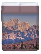 Scenic View Of Sunrise On Mooses Tooth Duvet Cover