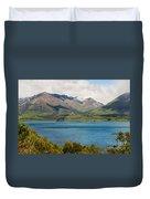 Scenic View On Lake Wakatipu Duvet Cover