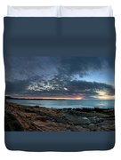 Schoodic Point Sunrise 7218 Duvet Cover
