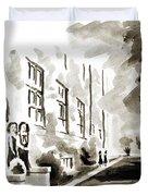 School Days At Ursuline II Duvet Cover by Kip DeVore