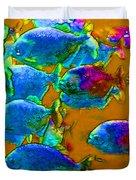 School Of Piranha V1 Duvet Cover