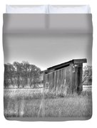 School Outhouse Duvet Cover