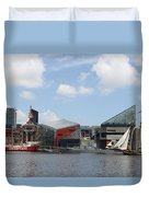 Schooner Comming Back To Baltimore Harbor Duvet Cover