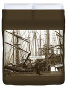 Schooner Luisa D Sails For Nome Alaska  About April 18 1902 Duvet Cover