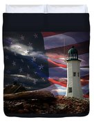 Scituate Strong Protecting American Shoreline Duvet Cover