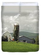 Scoharie New York Farm Duvet Cover