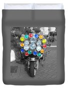 Scooter Spotlights Duvet Cover