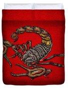 Scorpion On Red Duvet Cover