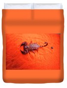 Scorpion Red Sand Sting Insect Duvet Cover