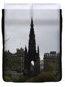 Scott Monument Inside The Princes Street Gardens In Edinburgh Duvet Cover