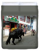 Scottish Pub In Lukla Duvet Cover