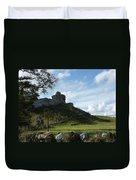 Scottish Castle Ruins Duvet Cover