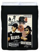 Scottish Terrier Art Canvas Print - The Blues Brothers Movie Poster Duvet Cover by Sandra Sij