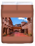 Scotty's Castle Courtyard Duvet Cover