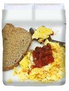 Scrambled Eggs And Salsa Duvet Cover