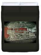 Scrapping Hoosiers Indiana Monon Train Duvet Cover