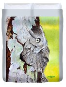 Screech Owl Duvet Cover