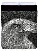 Scribble Eagle Duvet Cover