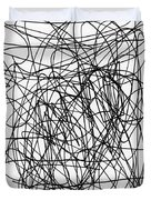 Scribble For M.l.b. Here I Come Duvet Cover