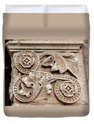 Scroll Of Stone Duvet Cover
