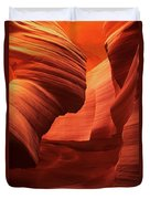 Sculpted Sandstone Upper Antelope Slot Canyon Arizona Duvet Cover