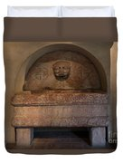 Sculpture At The Cloisters Duvet Cover