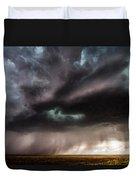 Sculpture - Turquoise Colored Storm Over Kansas Plains Duvet Cover