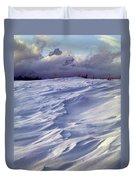 1m9347-sculptured Snow And Grand Teton Duvet Cover