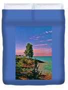 Sea And Tree Duvet Cover