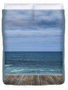 Sea And Wooden Platform Duvet Cover