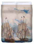Sea Battle-war Of 1812 Duvet Cover