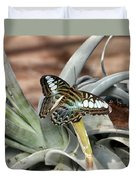 Sea Blue Butterfly Two Duvet Cover