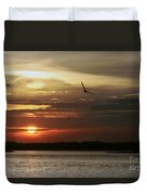 Sea Bright Sunset Duvet Cover