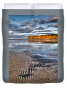 Sea Coal Saltburn Sunset Duvet Cover
