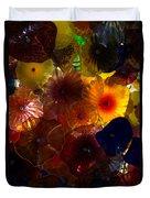 Sea Flowers And Mermaid Gardens Duvet Cover