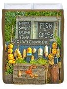 Sea Food Duvet Cover