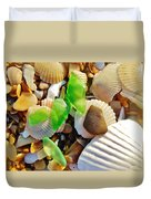 Sea Glass And Shells 17 10/2 Duvet Cover