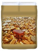 Sea Glass And Shells 3 10/13 Duvet Cover
