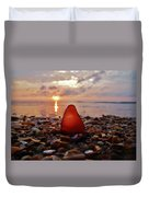 Sea Glass Sunrise And Shells 9 10/18 Duvet Cover