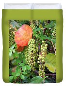 Sea Grapes And Poison Ivy Duvet Cover