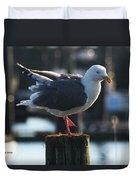 Sea Gull On Break Duvet Cover