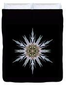 Sea Holly I Flower Mandala Duvet Cover