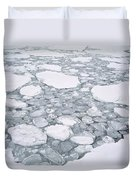 Sea Ice Pancake Ice Forming Antarctica Duvet Cover