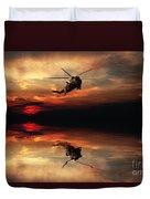 Sea King Sunset  Duvet Cover